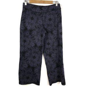 Athleta Crop Wide Leg Pants Floral Stretch Medium